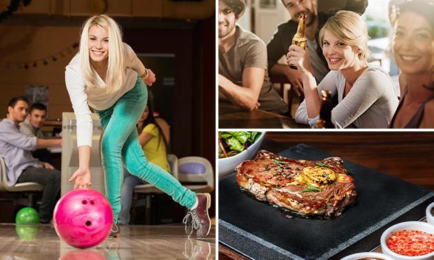 Bowlen (2 uur) + All-You-Can-Eat steengrillen