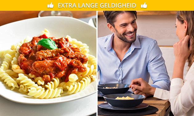 Afhalen: pasta + drankje naar keuze