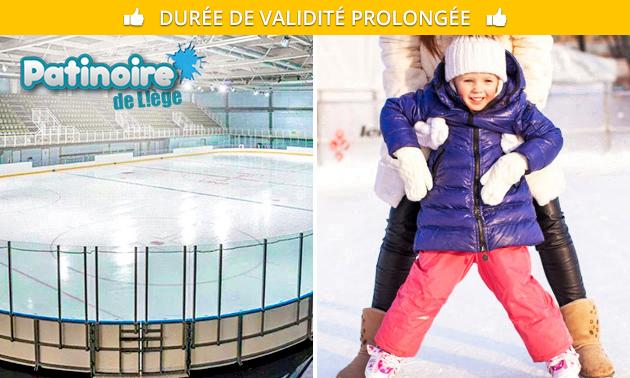 Entrée à la Patinoire de Liège + location de patins