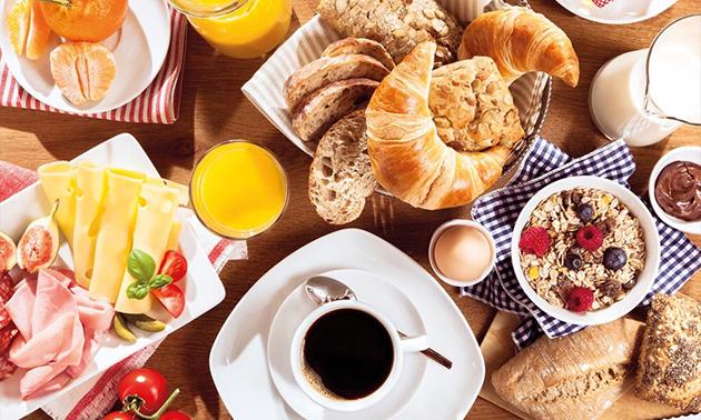 Uitgebreid ontbijtbuffet bij Picco Belli