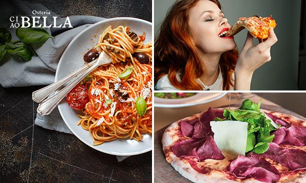 Afhalen: pizza/pasta + cake + blikje fris bij Osteria