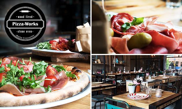 Antipasti + pizza à la carte bij Pizza Works
