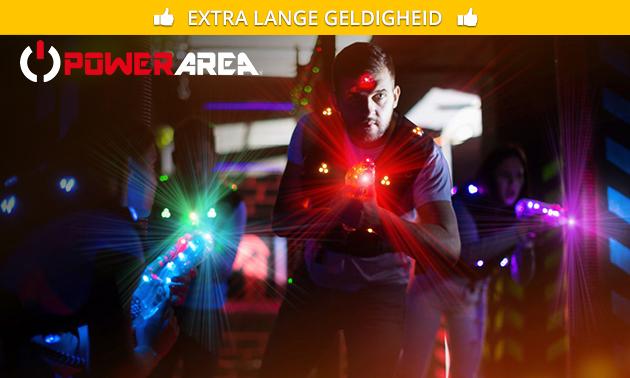 2 spellen lasergame bij Powerarea
