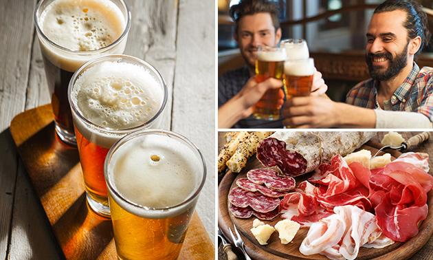 Bierproeverij + borrelplank bij de Tramhalte