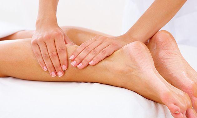 Voet- en beenmassage + voetenbad (60 min)