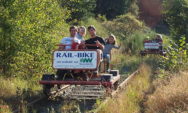 Railbiking voor 4 personen