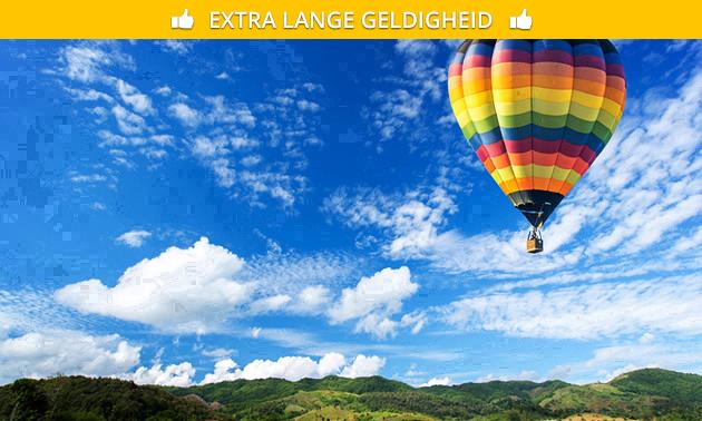Luchtballonvaart (1 uur) + bubbels