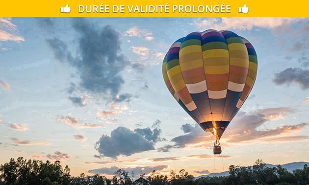Vol en montgolfière (1 heure) + vin