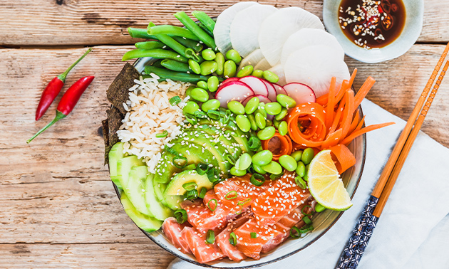 Afhalen: pokébowl of salade + drankje naar keuze
