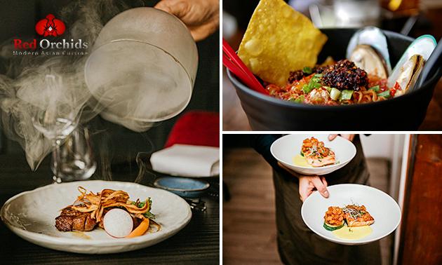 Thuisbezorgd of afhalen: shared dining (9 gerechten)