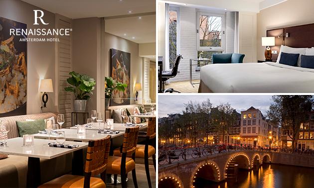 5-sterrenovernachting voor 2 + ontbijt + diner in Amsterdam