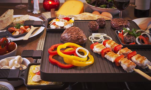Thuisbezorgd of afhalen: gourmetpakket (2 of 4 pers)