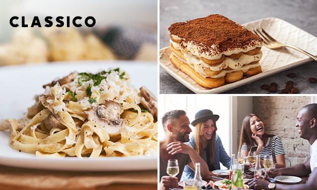 Italiaans 4-gangen keuzediner bij Restaurant Classico