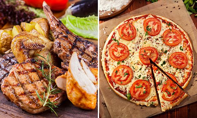 Plateau grillade mixte ou une pizza au choix