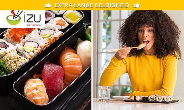 Afhalen: sushibox (20 stuks) van Restaurant IZU
