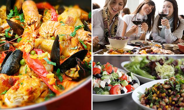 Paella + salade of soep bij Restaurant Jasmijn