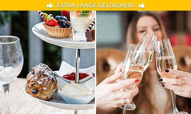 Luxe high tea + glas bubbels bij Restaurant Moods