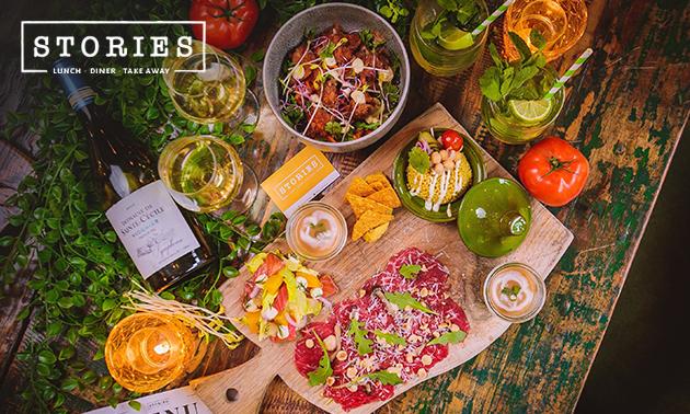 Thuisbezorgd of afhalen: 3-gangen sharing-diner van Stories
