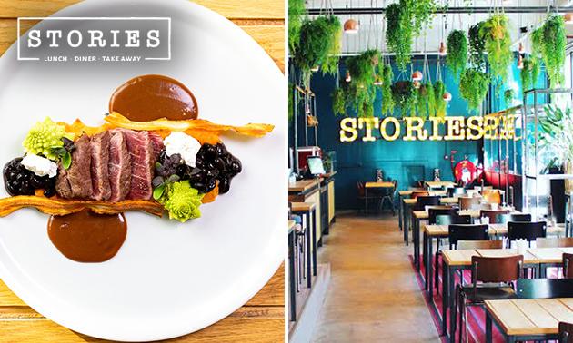 Thuisbezorgd of afhalen: 4-gangen shared dining van Stories