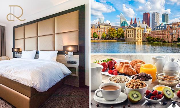 Voor 2 personen: overnachting(en) + ontbijt in Den Haag
