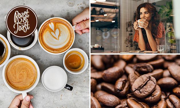 Rondleiding door koffiebranderij + proeverij + 12 drip bags