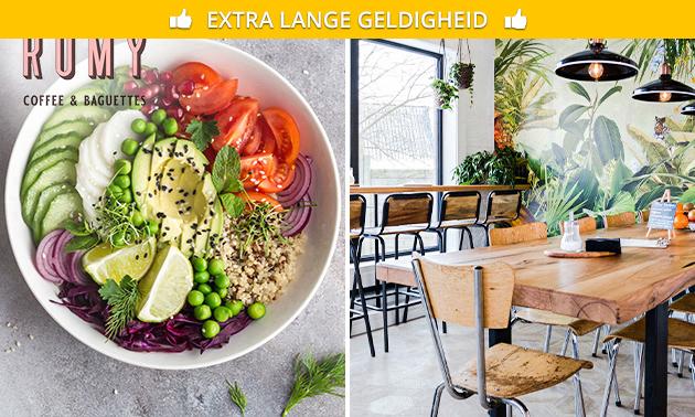 Saladebowl om af te halen bij Romy Coffeebar & Baguette