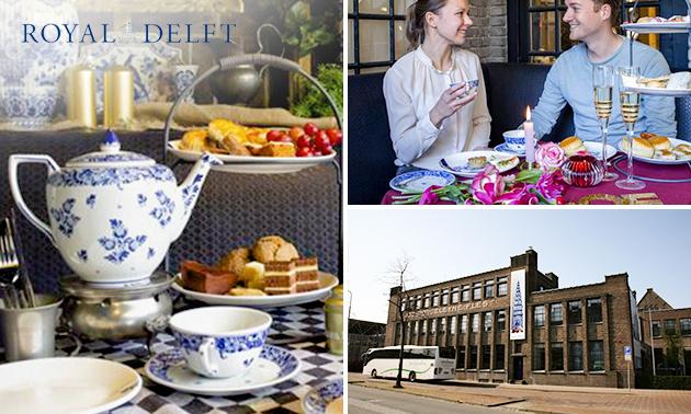 High tea (1,5 uur) + Delfts Blauw cadeau
