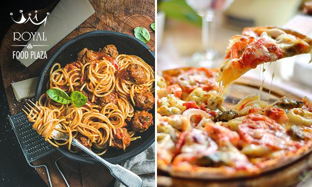 Afhalen: pizza of pasta naar keuze + drankje
