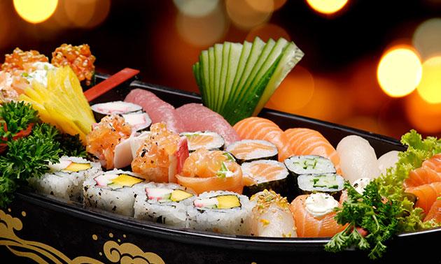 3-gangen sushidiner bij Saki Sushi