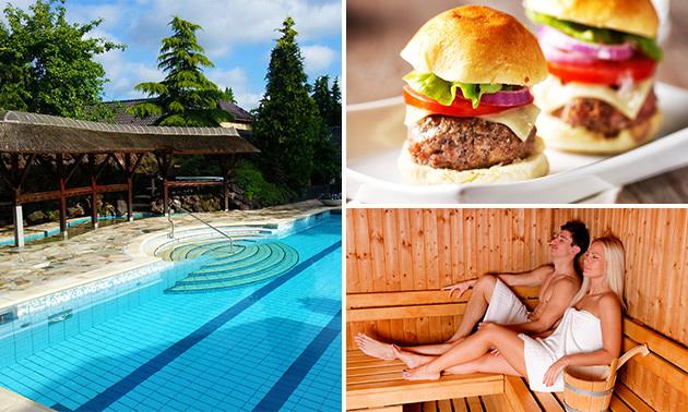 Gehele dag entree tot Sauna Drôme + evt. 2-gangendiner