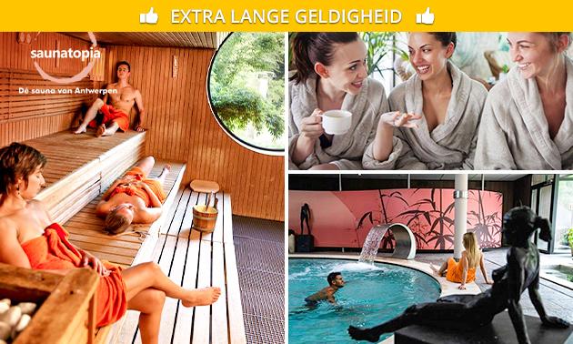 Dagentree Saunatopia + welkomstdrankje + massage
