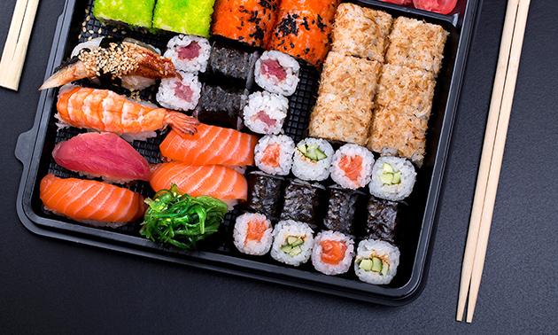 Afhalen: sushibox (22, 40 of 60 stuks)
