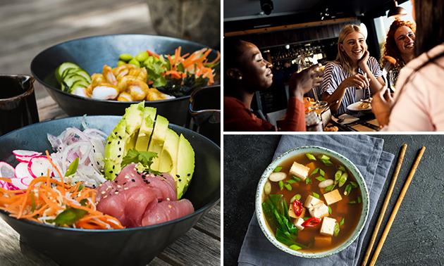 Bij Sensai: pokébowl naar keuze + soep + dessert