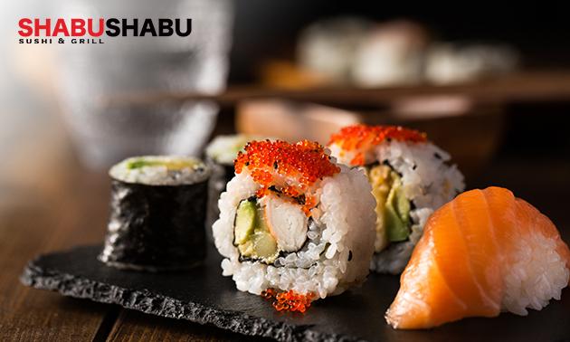 Afhalen: sushibox (24, 36, 38 of 58 stuks) bij Shabu Shabu