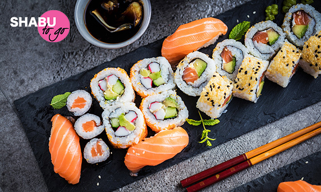 Afhalen: sushibox (24, 29 of 40 stuks) van Shabu To Go