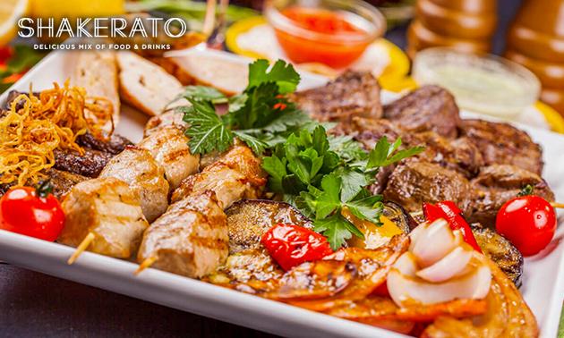 Afhalen: mixed grill + friet + salade bij Shakerato