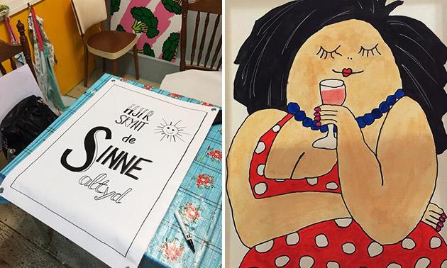 Workshop schilderen + koffie/thee + lekkernij (2,5 uur)