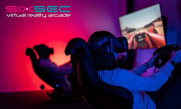 Formule 1-race in VR (60 min) voor max. 4 personen