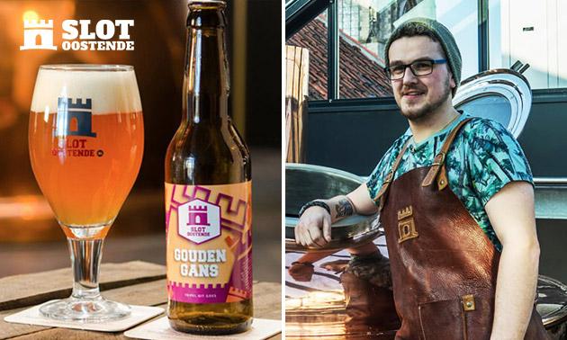 Bierbrouwerij-tour + drankjes + goodiebag