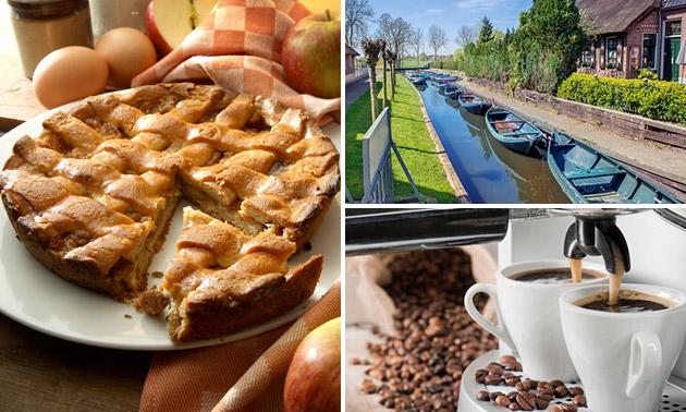 Rondvaart (1 uur) door Giethoorn + koffie + gebak