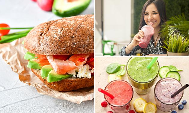 Afhalen: sandwich + smoothie of juice naar keuze