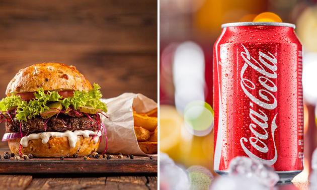 Hamburger naar keuze + patat + drankje