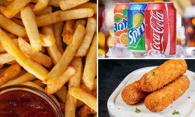 Afhalen: snackmenu + blikje fris naar keuze