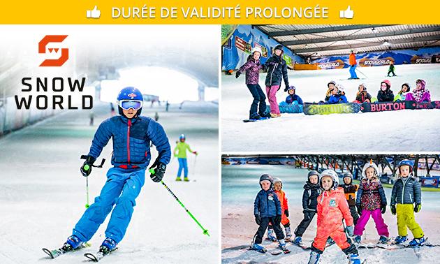 4 heures de ski ou de snowboard chez SnowWorld
