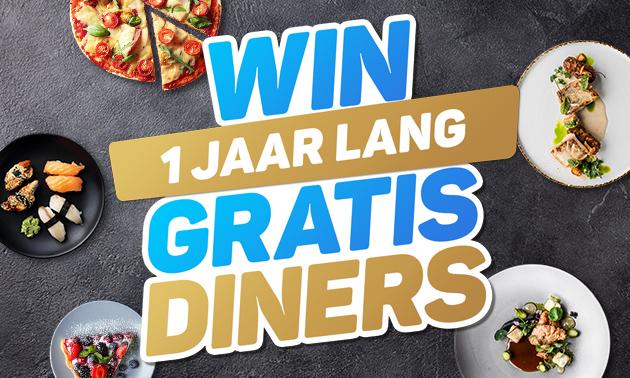 Gewinne 1 Jahr lang gratis Dinner