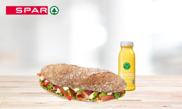 Afhalen: broodje + sap bij SPAR City Boschstraat