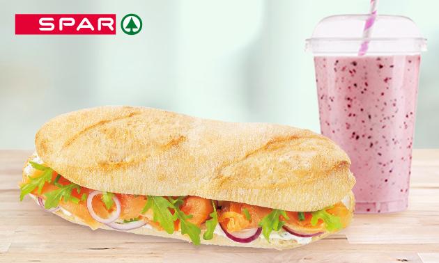 Broodje + smoothie bij Spar City Enschede