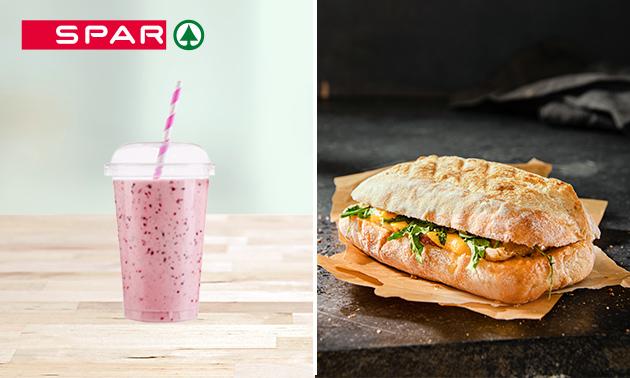 Afhalen: warm broodje + smoothie bij SPAR City