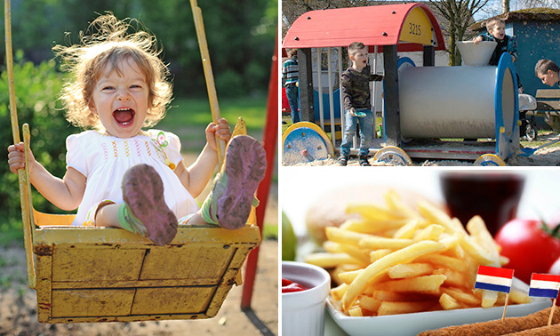 Entree speeltuin + friet + snack + drankje