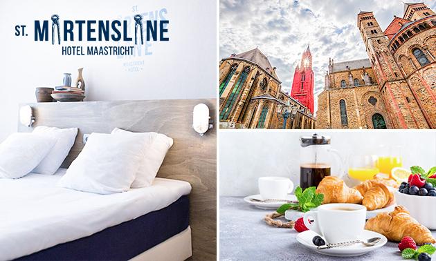 Overnachting + ontbijt voor 2 in hartje Maastricht